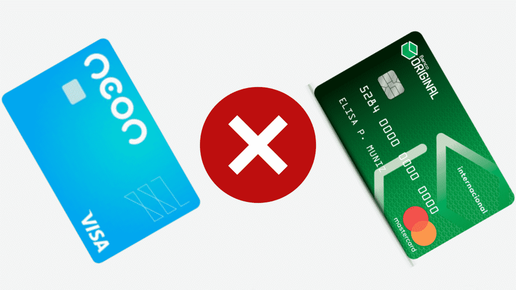Neon ou original? descubra qual melhor cartão sem taxa de anuidade!