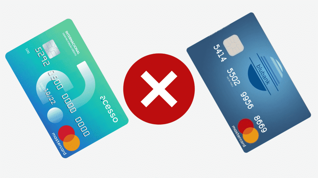 Acesso ou blubank? descubra qual melhor cartão para negativados!