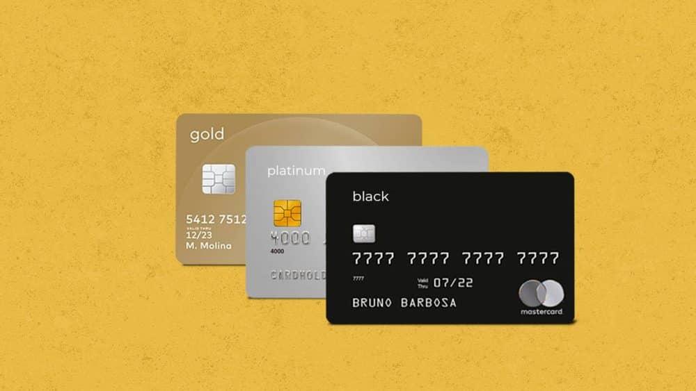 Descubra de uma vez por todas a diferença entre os cartões black, platinum e gold!