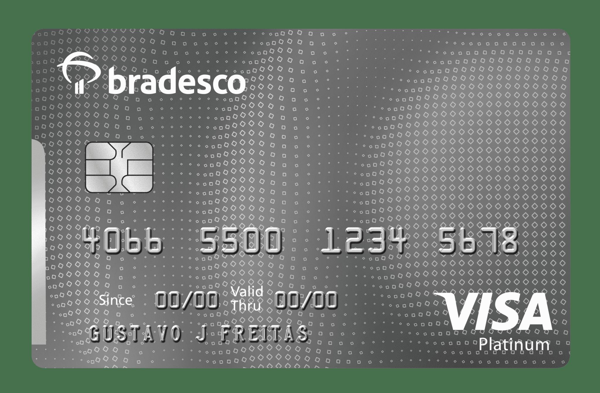 Cartão bradesco clássico platinum visa:  programa de descontos, cartões adicionais e assistência em viagens