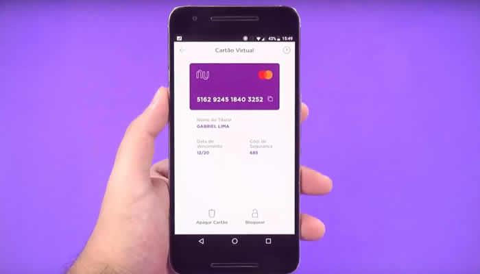 Nubank: instituição passa a permitir ter mais de um cartão virtual ao mesmo tempo